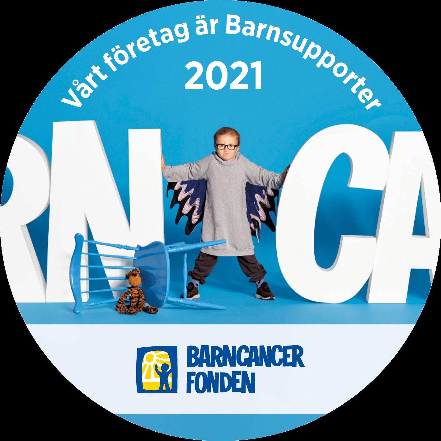 Barncancerfondens supporter-märke